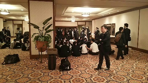 第1日目ホテル内班長会議