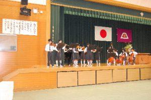 器楽部の歓迎演奏
